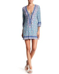 Blush Lingerie - Lace-up Tunic Cover Up - Lyst