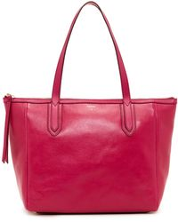 Fossil - Sydney Leather Tote - Lyst