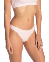 Solid & Striped - The Madison Basket Weave Bikini Bottoms - Lyst
