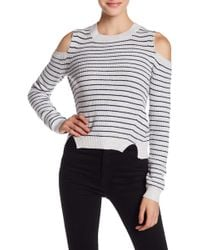 Lucky Brand - Cold Shoulder Stripe Sweater - Lyst
