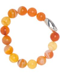Simon Sebbag - Sterling Silver Striped Orange Agate Stretch Bracelet - Lyst