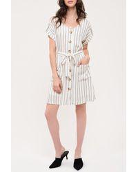 Blu Pepper - Button Down Stripe Woven Dress - Lyst