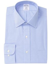 Brooks Brothers - Mini Check Regent Fit Dress Shirt - Lyst