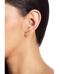 Shashi - 18k Yellow Gold Vermeil Bezel Set Crystal Ear Climbers - Lyst
