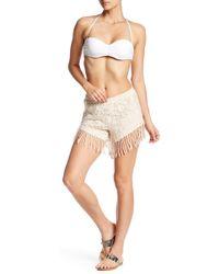 Mimi Chica - Fringe Crochet Short - Lyst