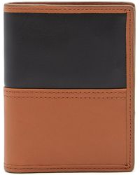 Fossil - Tate International Combi Leather Wallet - Lyst
