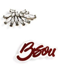 BaubleBar - 'bisou' Brooches (set Of 2) - Lyst