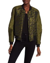 BCBGMAXAZRIA - Jacquard Quilted Camo Jacket - Lyst