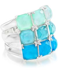 Ippolita - Wonderland Sterling Silver Bezel Set Multi Stone Ring - Size 7 - Lyst