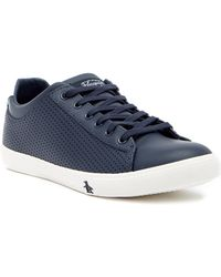 Original Penguin - Dan Perforated Leather Sneaker - Lyst