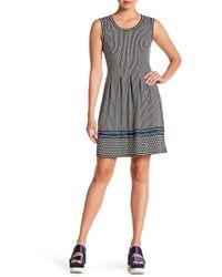 Max Studio - Pleated Patterned Dress - Lyst