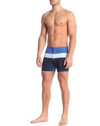 057be9a797 Lyst - Parke & Ronen Angeleno Print Stretch Swim Trunks in Blue for Men
