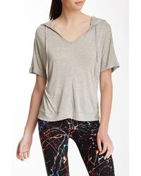 Electric Yoga | Hooded V-neck Tee | Lyst