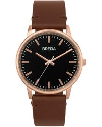 Breda - Men's Zapf Leather Strap Watch, 39mm - Lyst