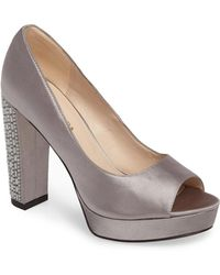 Pelle Moda - Paris Peep Toe Pump - Lyst