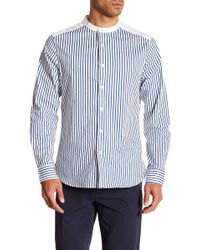 Kenneth Cole - Striped Long Sleeve Regular Fit Shirt - Lyst