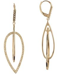 Judith Jack - Gold Plated Sterling Silver Swarovski Pave Orbital Earrings - Lyst