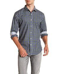 Bristol & Bull - Plaid Long Sleeve Sport Fit Shirt - Lyst