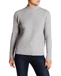 1.STATE | Long Sleeve Turtleneck Honeycomb Sweater | Lyst