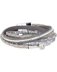 Saachi - Disco Double Wrap Leather Bracelet - Lyst