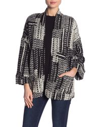 4e3c558ad67 Dress Forum - Patterned Open Front Cardigan - Lyst