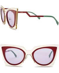 Fendi - Women's 49mm Modified Butterfly Sunglasses - Lyst