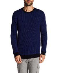 Quinn - Striped Crew Neck Wool Sweater - Lyst