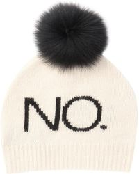 Skull Cashmere - No. Cashmere Genuine Fox Fur Pompom Beanie - Lyst