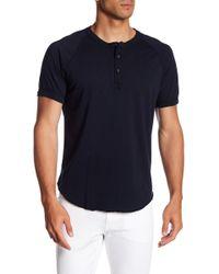 Save Khaki - Short Sleeve Jersey Henley Tee - Lyst