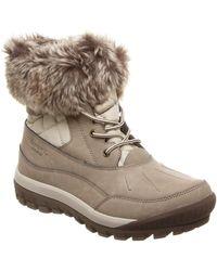 BEARPAW - Becka Faux Fur Collar Boot - Lyst