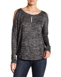 Lucky Brand - Cold Shoulder Keyhole Shirt - Lyst