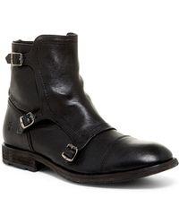 Frye - Ethan Triple Monk Boot - Lyst