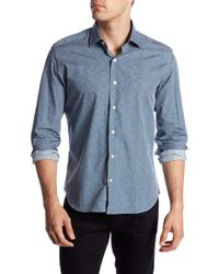 Culturata - Long Sleeve Print Contemporary Fit Woven Shirt - Lyst