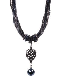 c.A.K.e. By Ali Khan - Faceted Glass Beaded Pendant Necklace & Earrings 2-piece Set - Lyst
