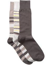 Cole Haan - Town Stripe Crew Socks - Pack Of 3 - Lyst