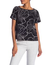 Catherine Malandrino - Short Sleeve Floral Lace Top - Lyst