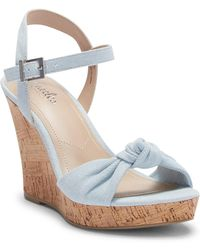 Charles David - Lolly Knotted Platform Wedge Sandal - Lyst