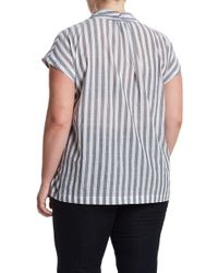 Kenneth Cole - V-neck Tuck Top - Lyst