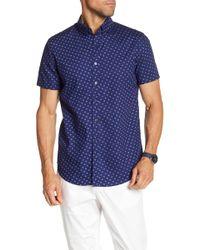 JB Britches - Clover Print Short Sleeve Shirt - Lyst