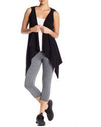 Donna Karan - Ribbed Knit Hoodie Vest - Lyst