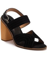 Joie - Aforleen Leather Slingback Strap Heeled Sandal - Lyst