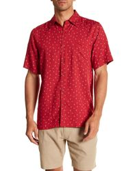 Tocco Toscano - Short Sleeve Print Woven Shirt - Lyst