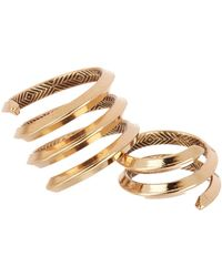House of Harlow 1960 - Caral Culture Wrap Ring - Set Of 2 - Size 7 - Lyst