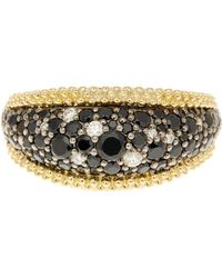 Lagos - Sterling Silver & 18k Gold Black Spinel & Diamond Nightfall Ring - Lyst