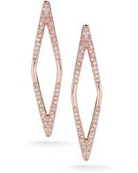 Dana Rebecca - 14k Rose Gold Taylor Beth Diamond Earrings - 0.39 Ctw - Lyst
