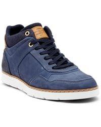 Steve Madden - Baloo Leather Twill Sneaker - Lyst