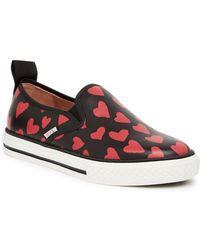 RED Valentino - Heart Print Slip-on Sneaker - Lyst