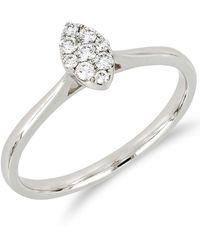 Bony Levy - 18k White Gold Diamond Marquise Ring - 0.14 Ctw - Lyst