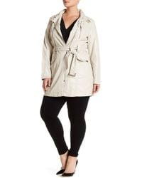 Kenneth Cole - Asymmetrical Zip Anorak (plus Size) - Lyst
