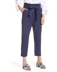 Halogen - Paperbag Tie Waist Pants (regular & Petite) - Lyst